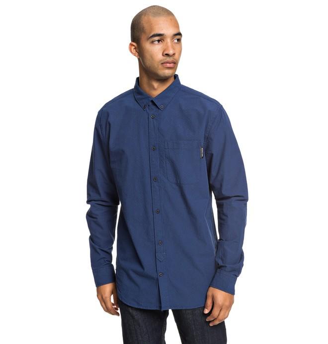 0 Small Mark - Camisa de Manga Larga para Hombre Azul EDYWT03224 DC Shoes