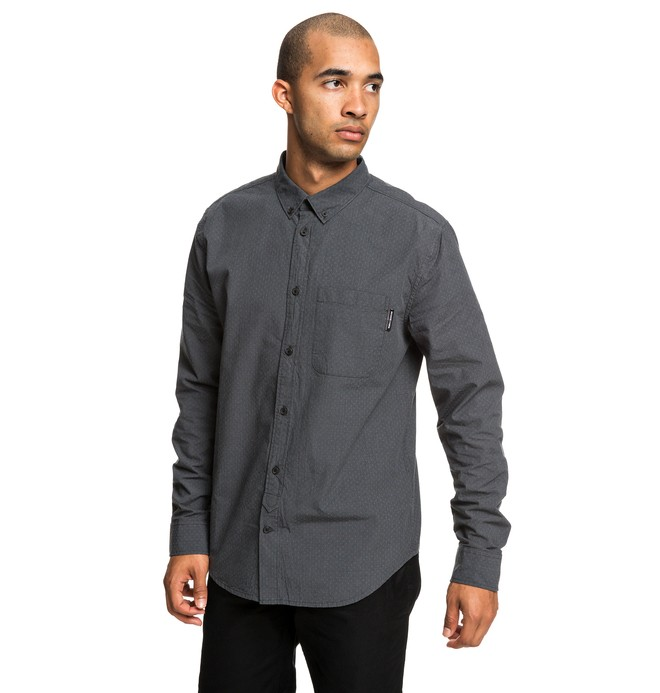 0 Small Mark - Camisa de Manga Larga para Hombre Negro EDYWT03224 DC Shoes