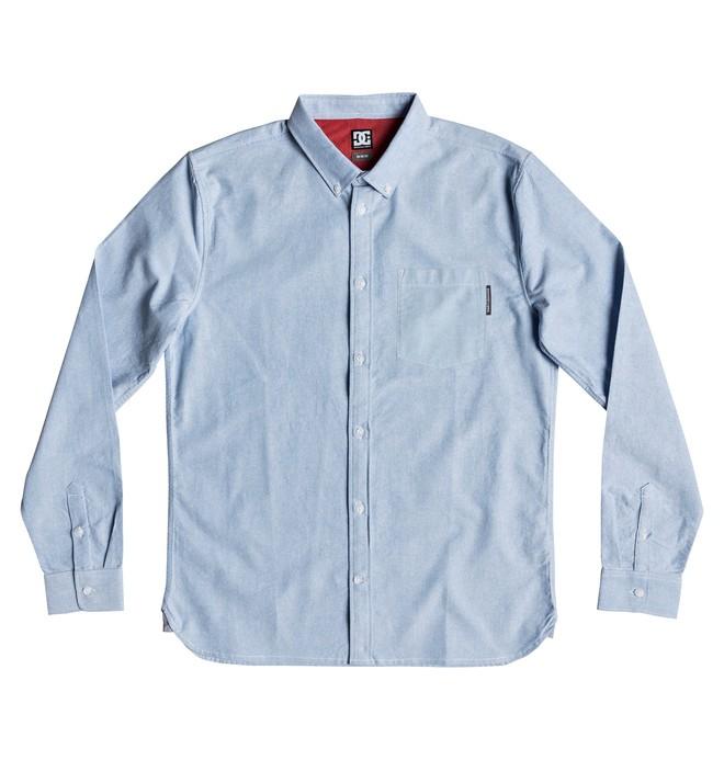 0 The Oxford - Langärmliges Hemd für Männer Blau EDYWT03225 DC Shoes
