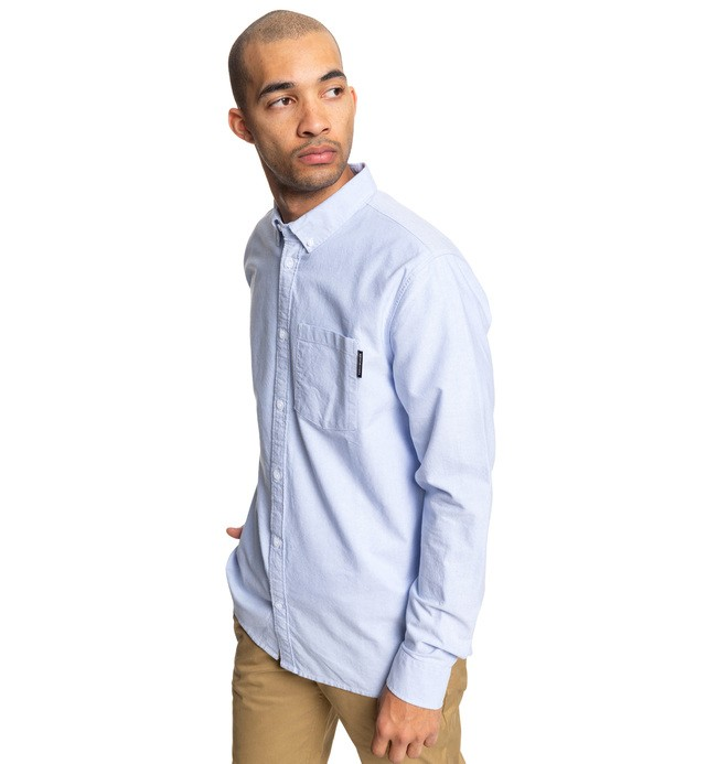 0 The Oxford - Long Sleeve Shirt Blue EDYWT03225 DC Shoes