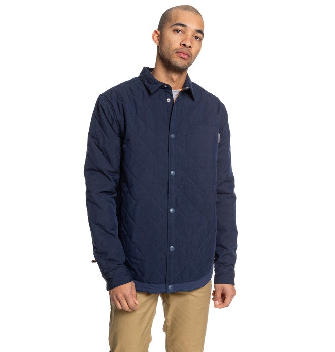 0 Lowriding - Quilted Overshirt Blue EDYWT03236 DC Shoes