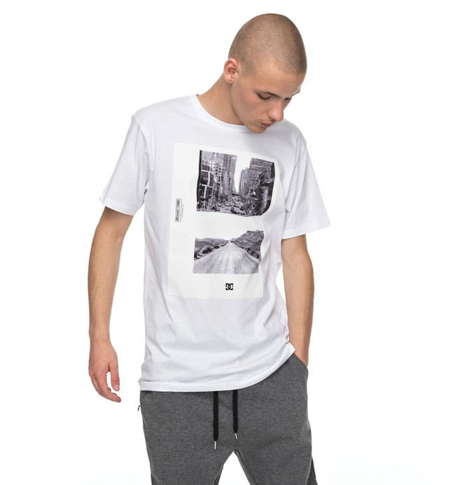 0 Keep Moving Tee White EDYZT03705 DC Shoes