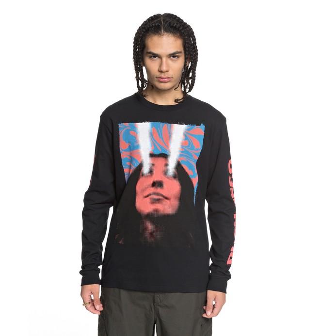0 Laser Beam - Camiseta de Manga Larga para Hombre Negro EDYZT03774 DC Shoes