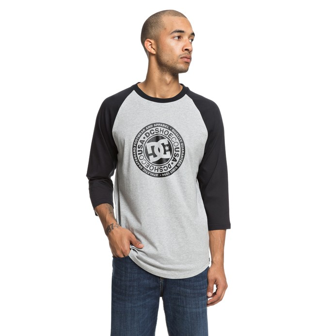 0 Research 3/4 Sleeve Tee Black EDYZT03832 DC Shoes