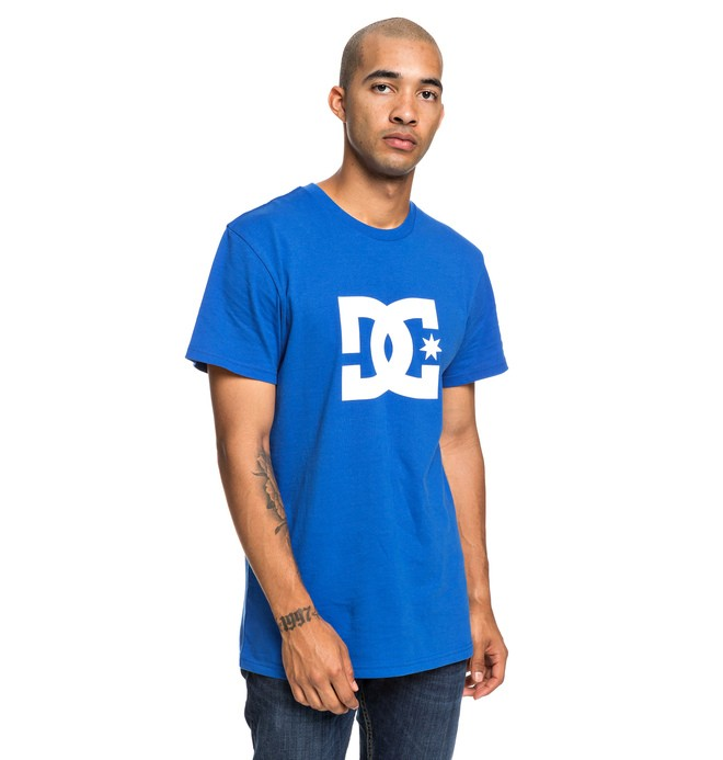 0 Star - Maglietta da Uomo Blue EDYZT03900 DC Shoes
