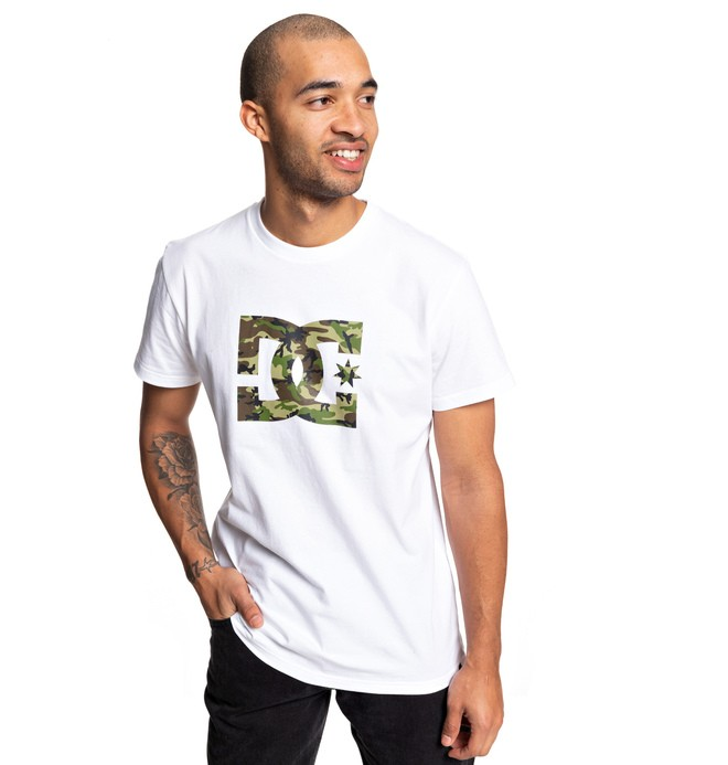 0 Star - T-shirt pour Homme Blanc EDYZT03900 DC Shoes