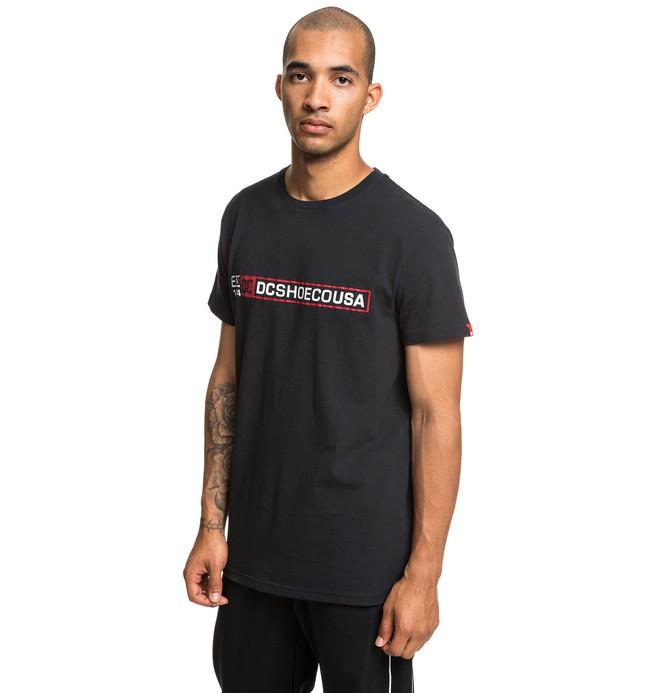 0 Linefront - T-Shirt for Men Black EDYZT03923 DC Shoes