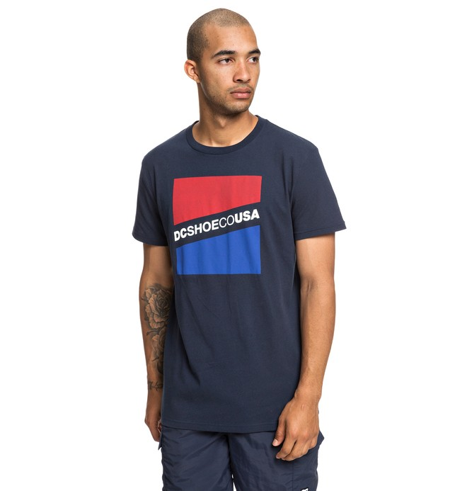 0 Slant - T-Shirt voor Heren Blue EDYZT03936 DC Shoes