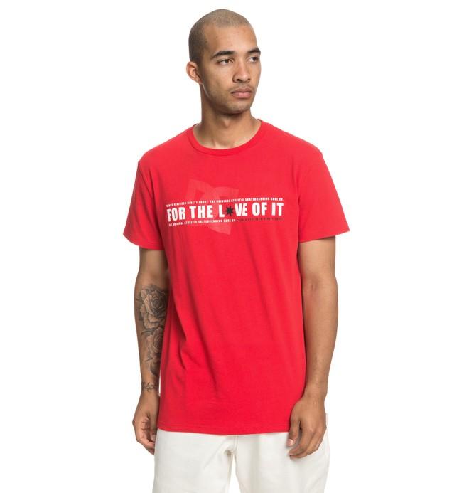 0 Ftloi - T-Shirt for Men Red EDYZT03937 DC Shoes