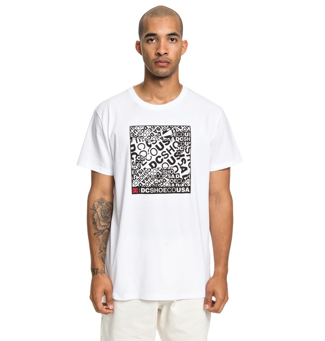 0 Cover Up - T-shirt pour Homme Blanc EDYZT03939 DC Shoes