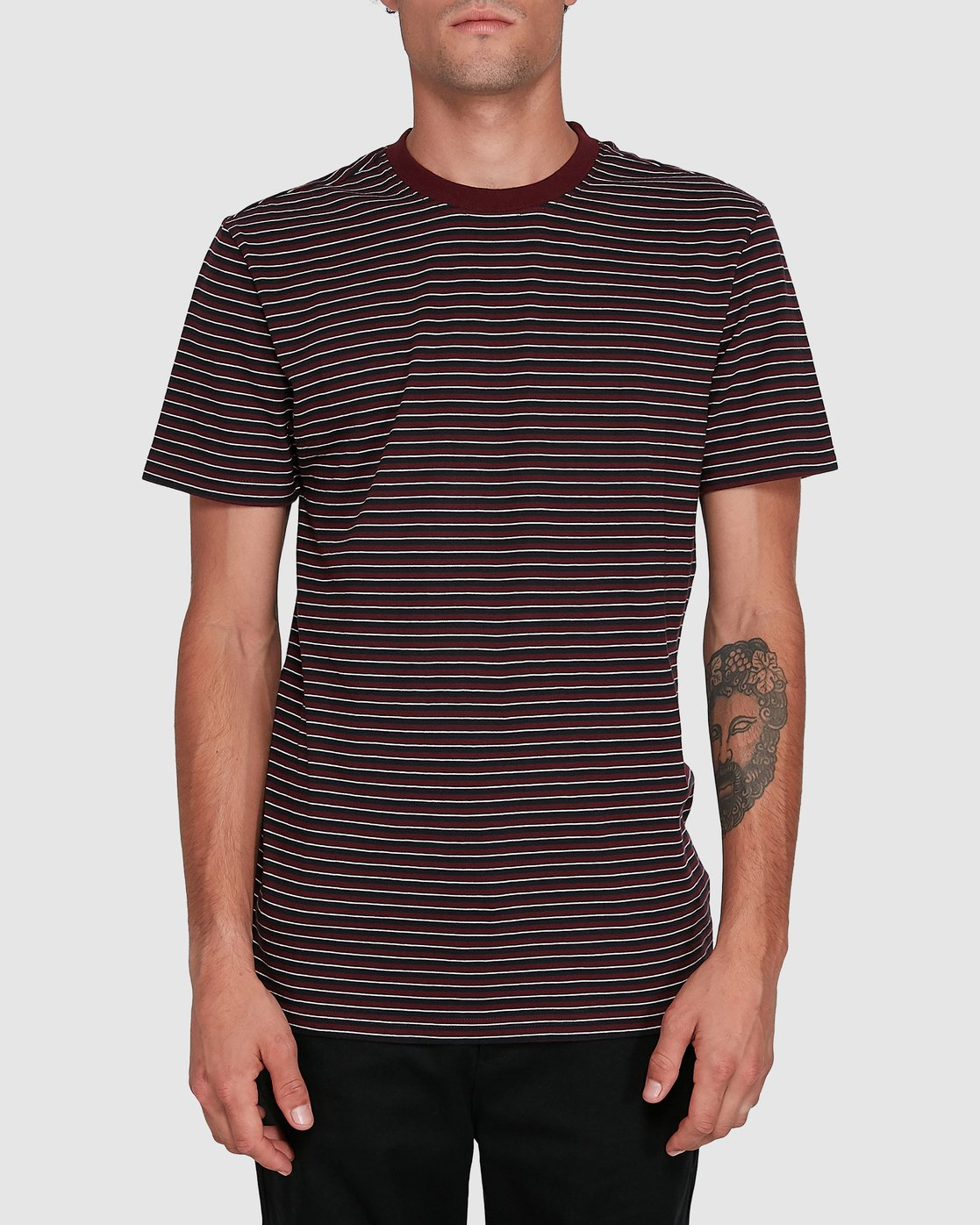0 CLASSIC STRIPE TEE Red 102001 Element