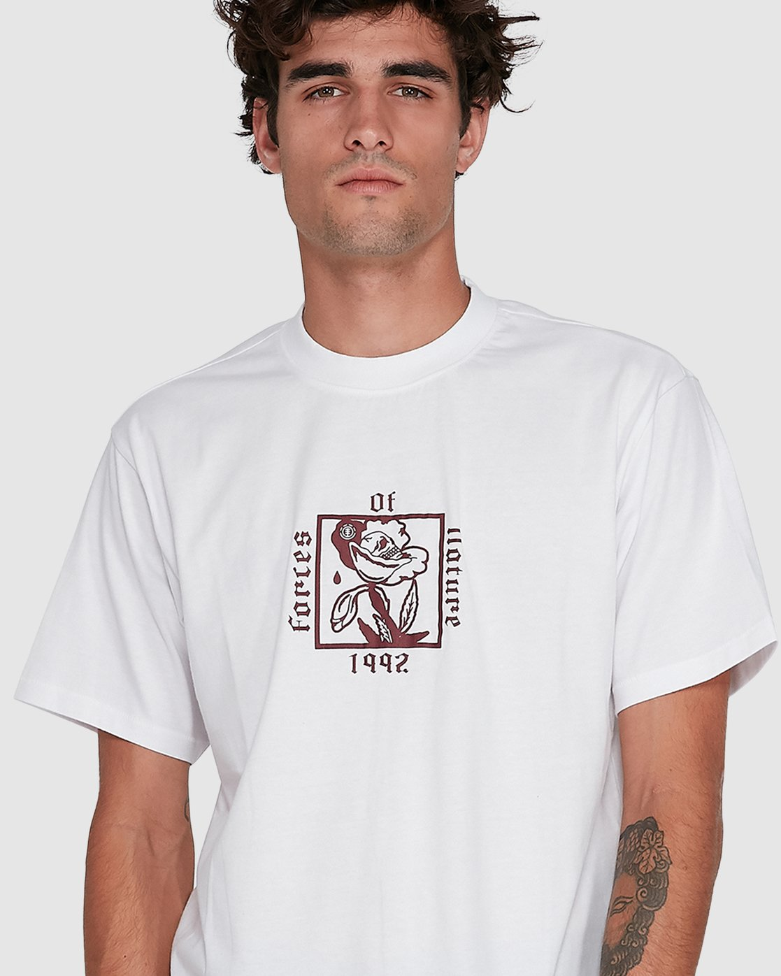 3 NATURAL LAW SHORT SLEEVE TEE White 102004 Element