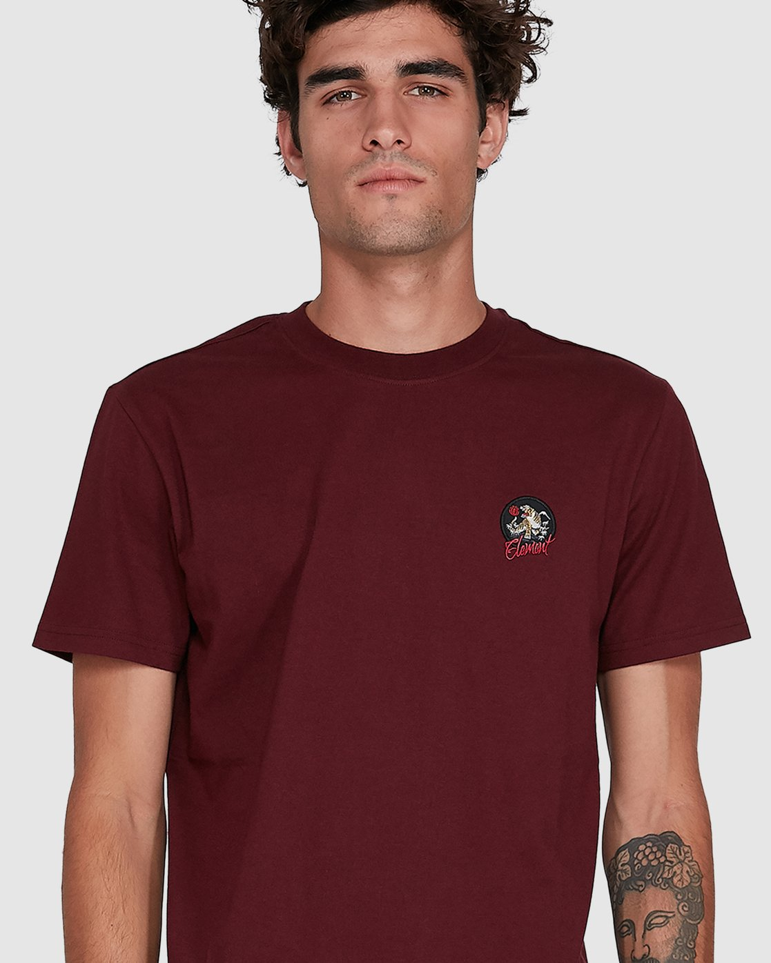 3 CAT CLAW SHORT SLEEVE TEE Red 102006 Element