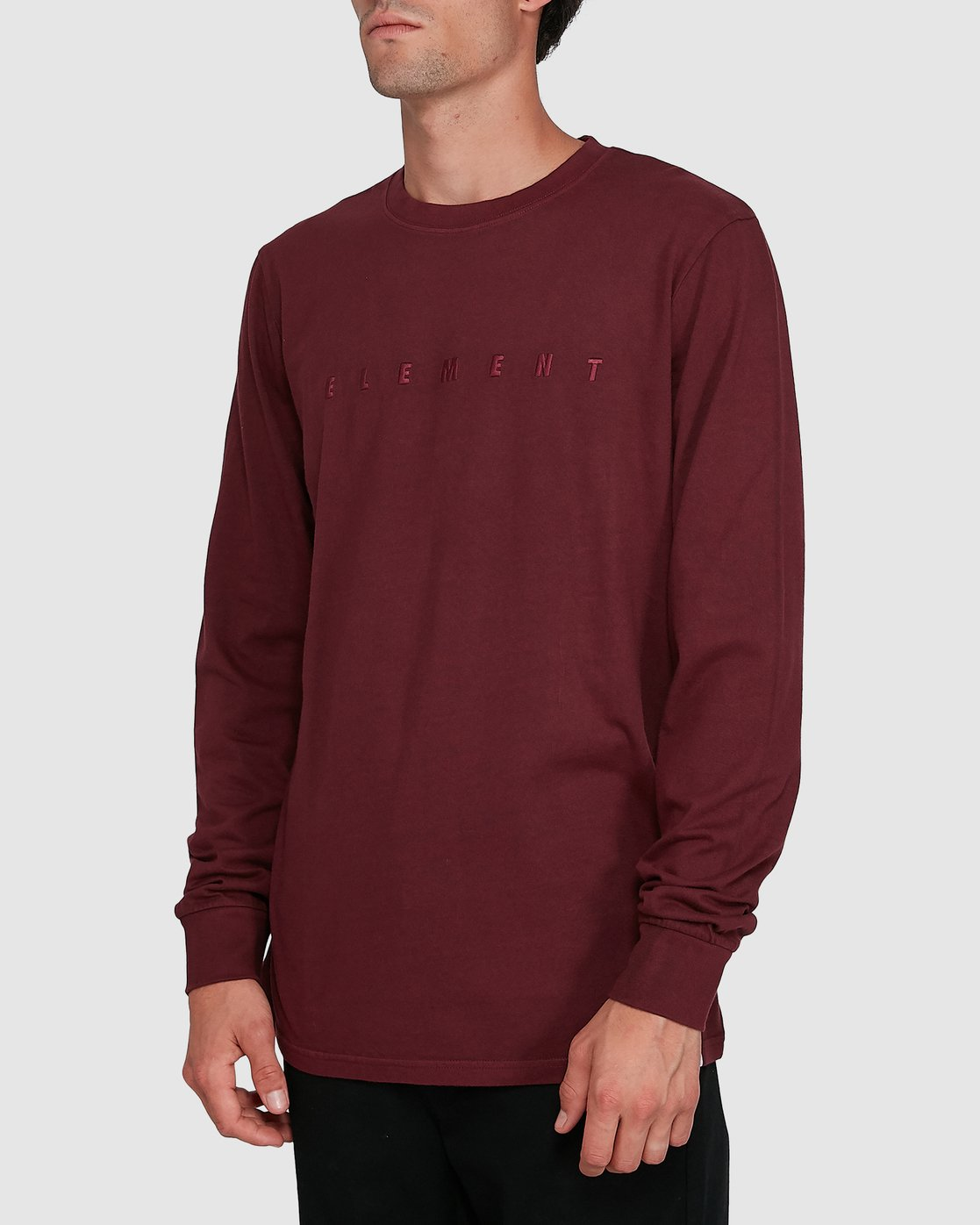 2 GYM LONG SLEEVE TEE Red 102051 Element