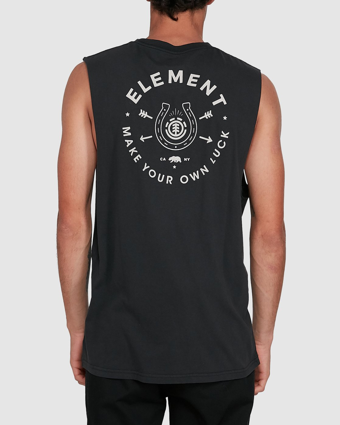 1 MAKE YOUR OWN LUCK MUSCLE Black 102272 Element