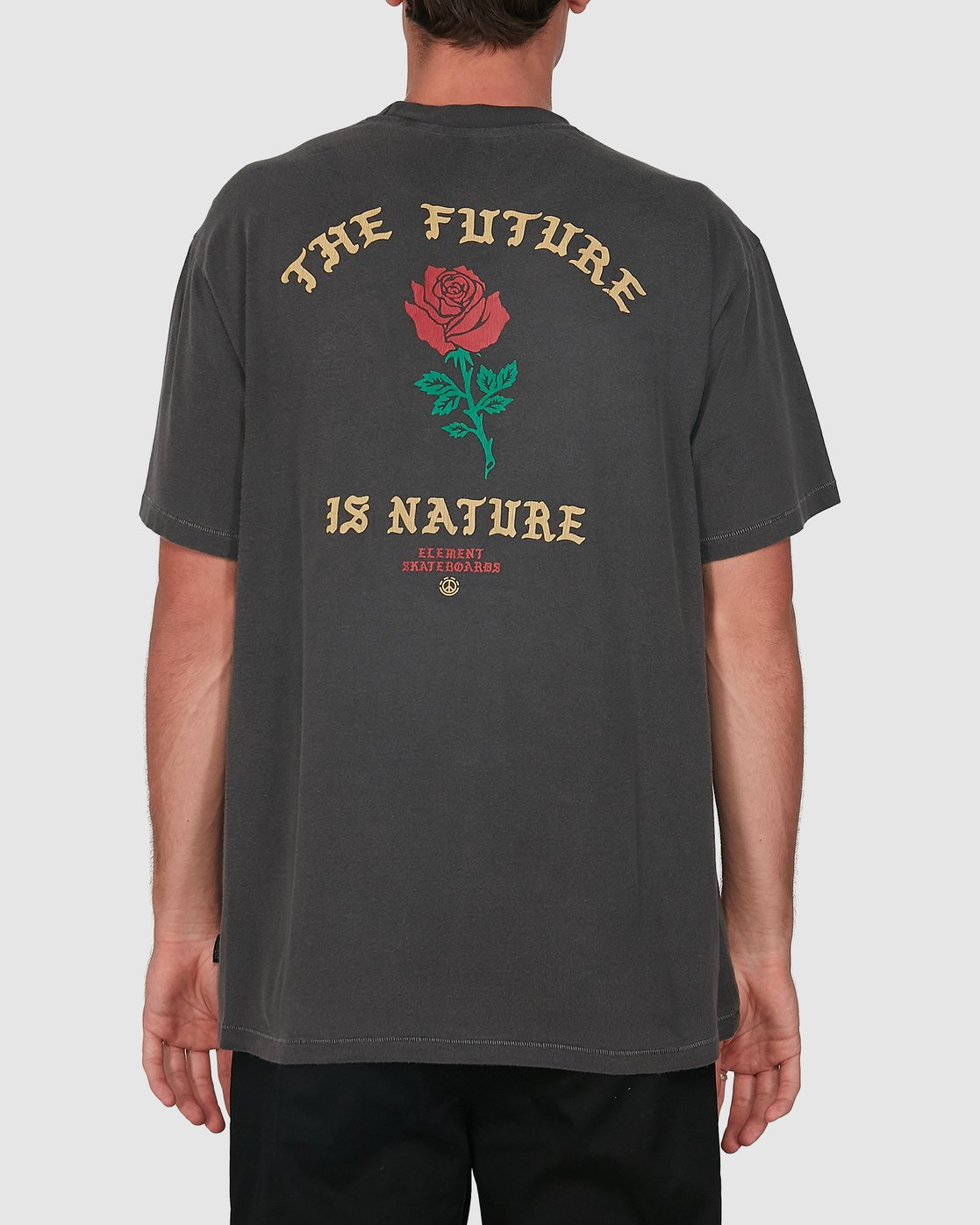 1 Future Is Nature Short Sleeve Tee Black 105002 Element