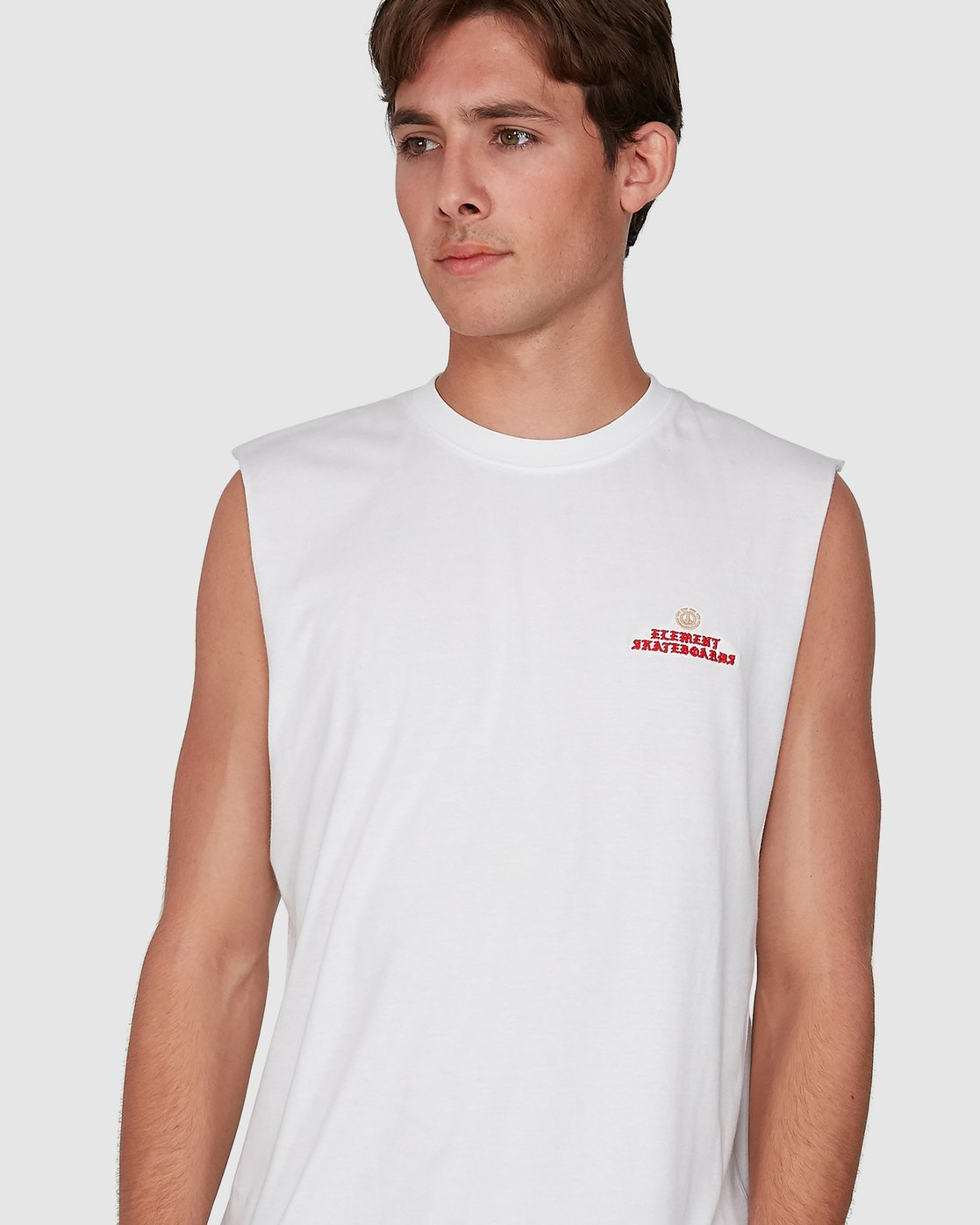 3 Future Is Nature Muscle Top White 105272 Element