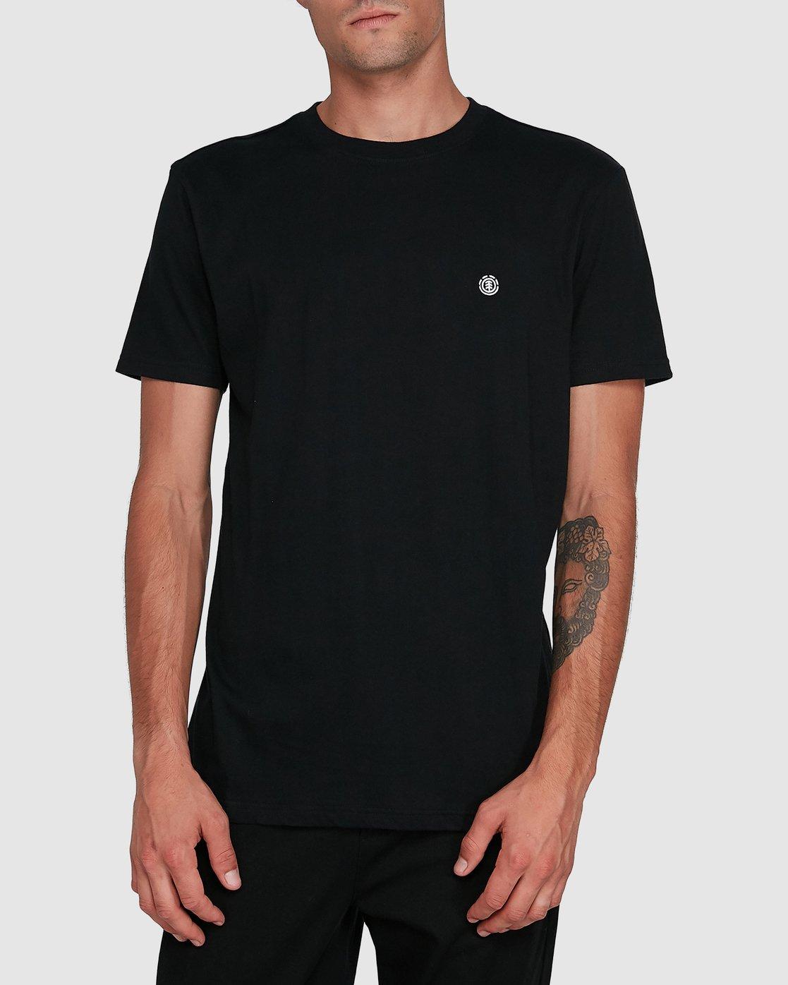 1 Cornell Short Sleeve Tee Black 107004 Element