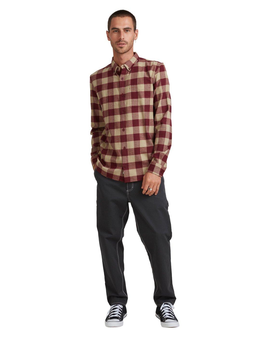5 Buffalo Ls Shirt Red 107216 Element