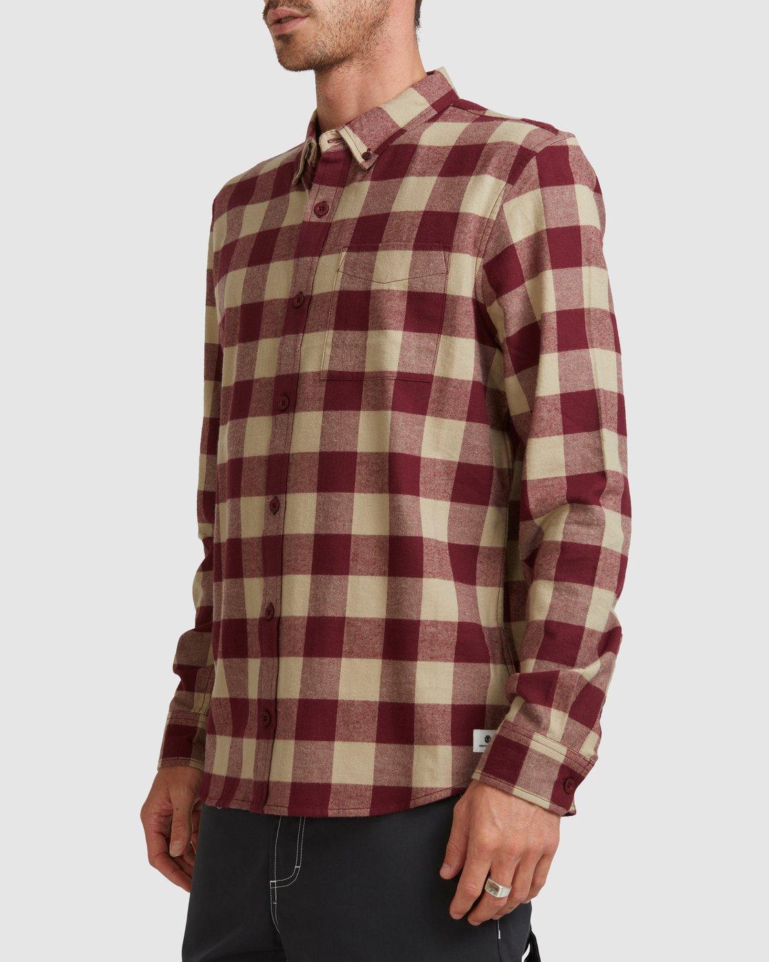 2 Buffalo Ls Shirt Red 107216 Element
