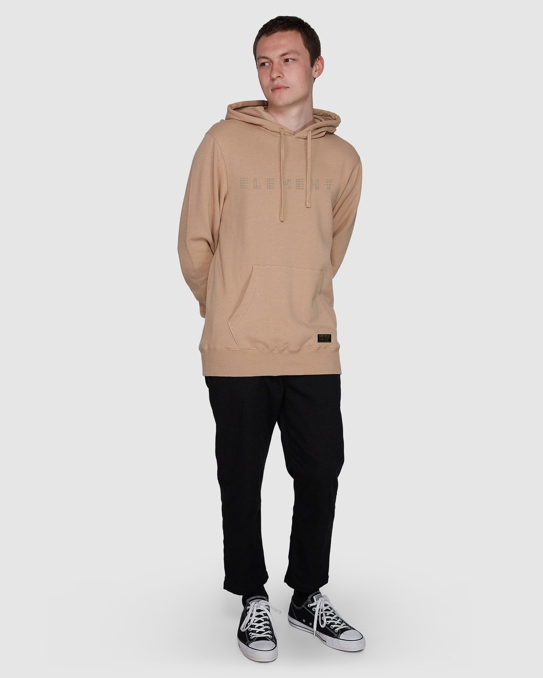 3 Metz Hood Fleece Grey 107304 Element