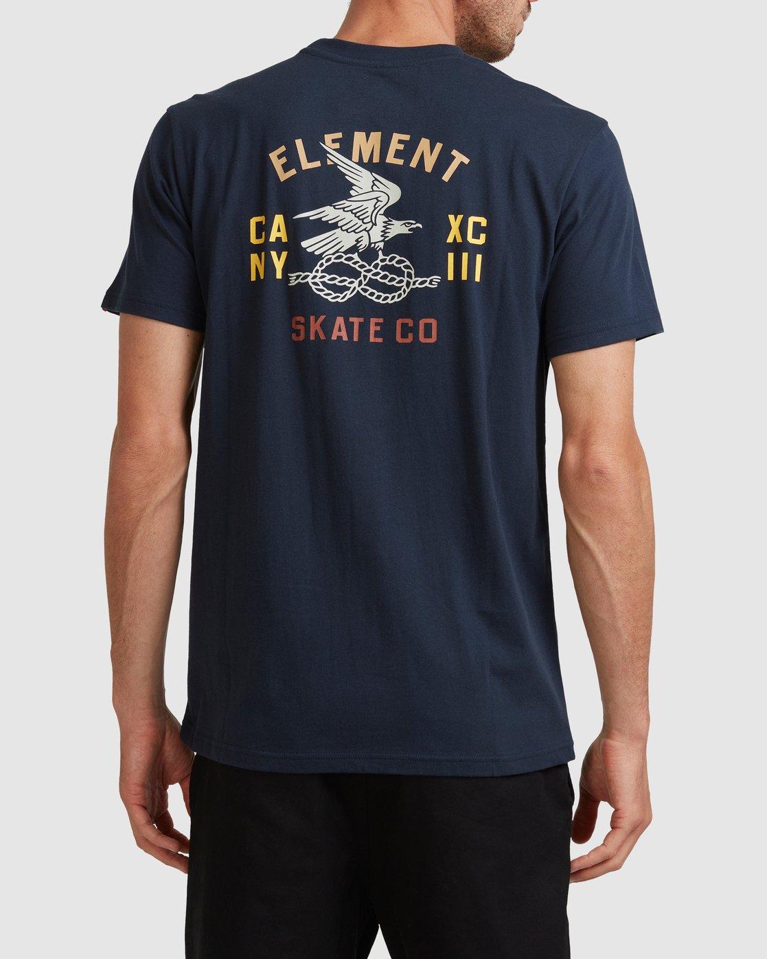 3 CA NY EAGLE SHORT SLEEVE TEE Blue 117005 Element