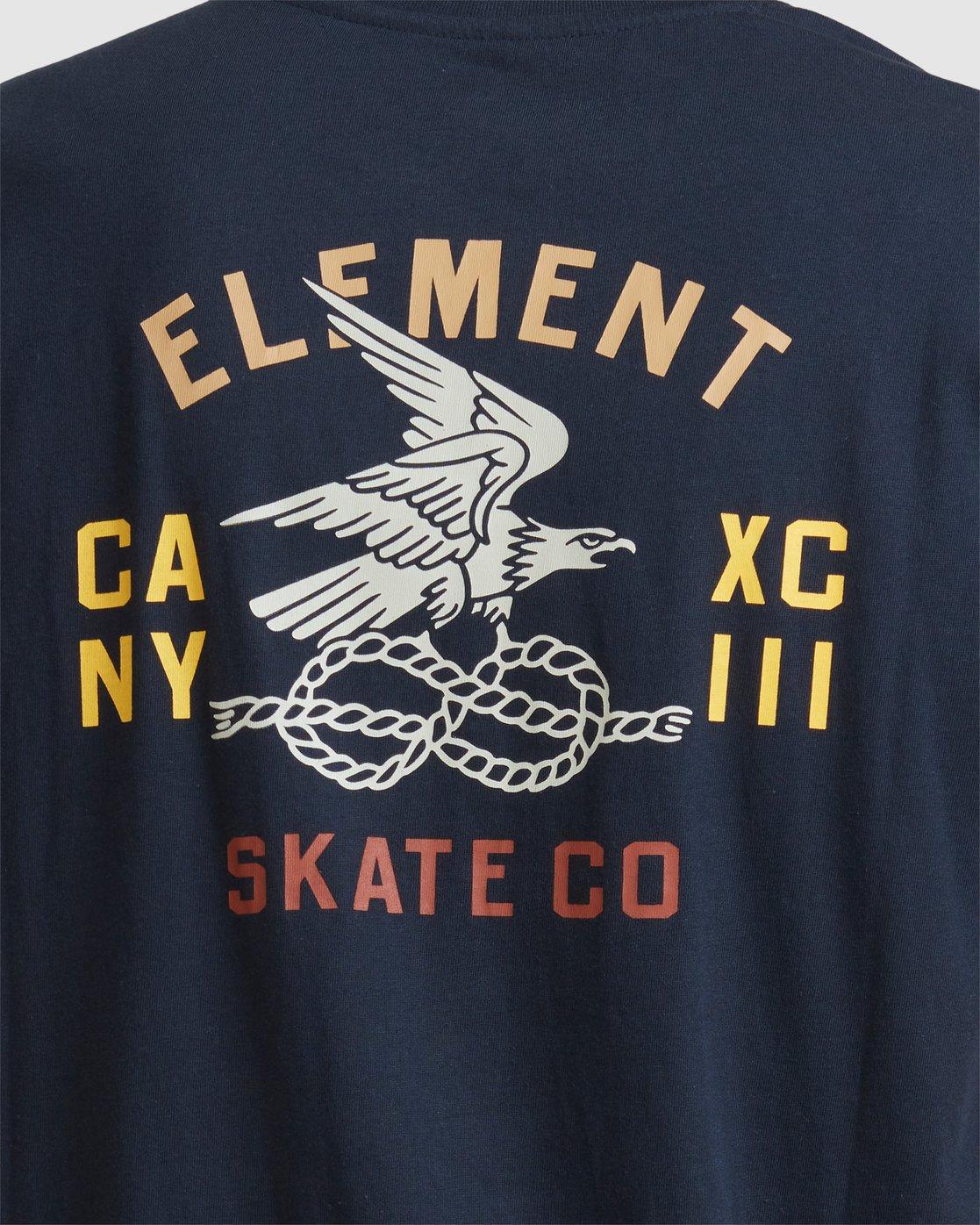 4 CA NY EAGLE SS TEE Blue 117005 Element