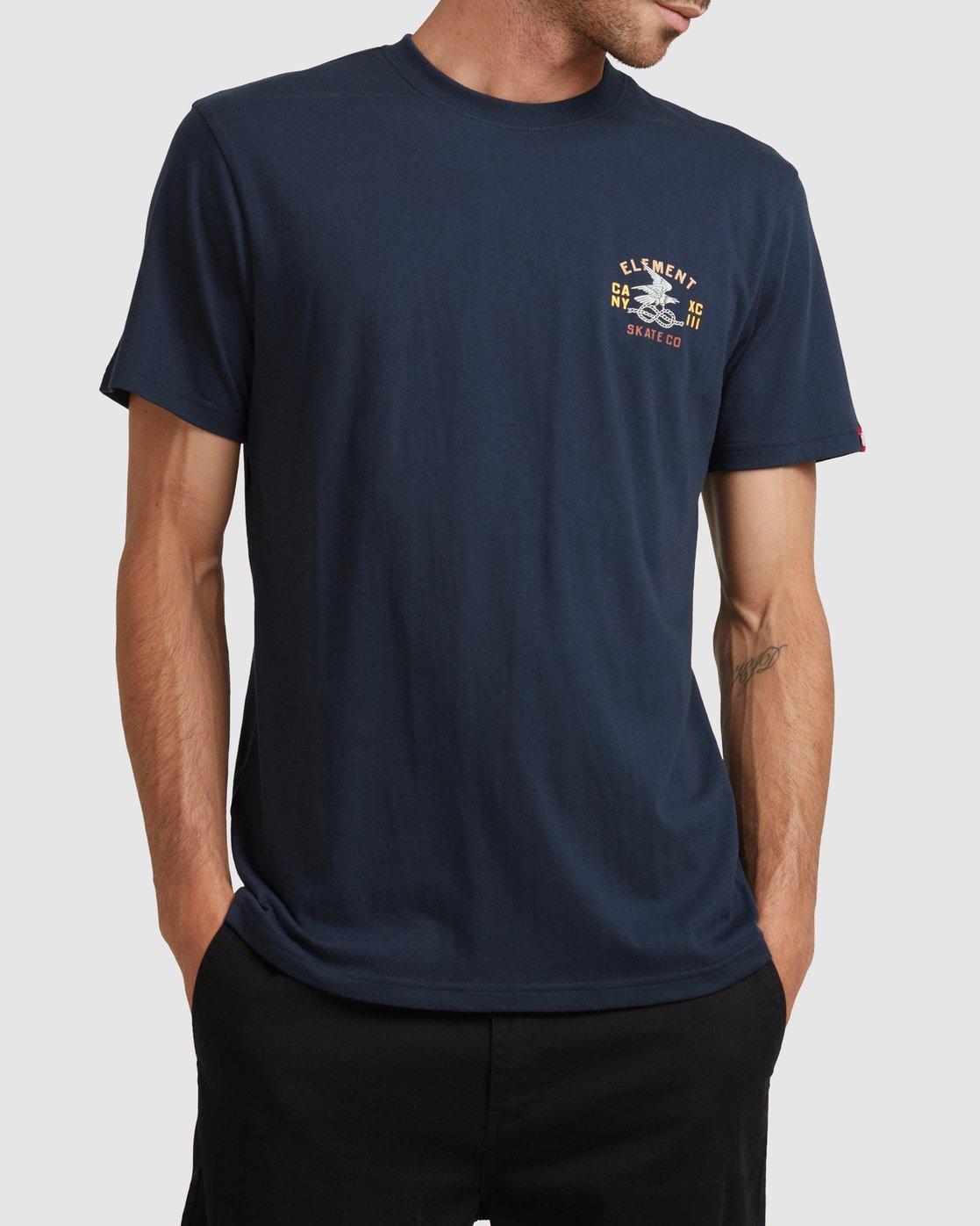 0 CA NY EAGLE SHORT SLEEVE TEE Blue 117005 Element