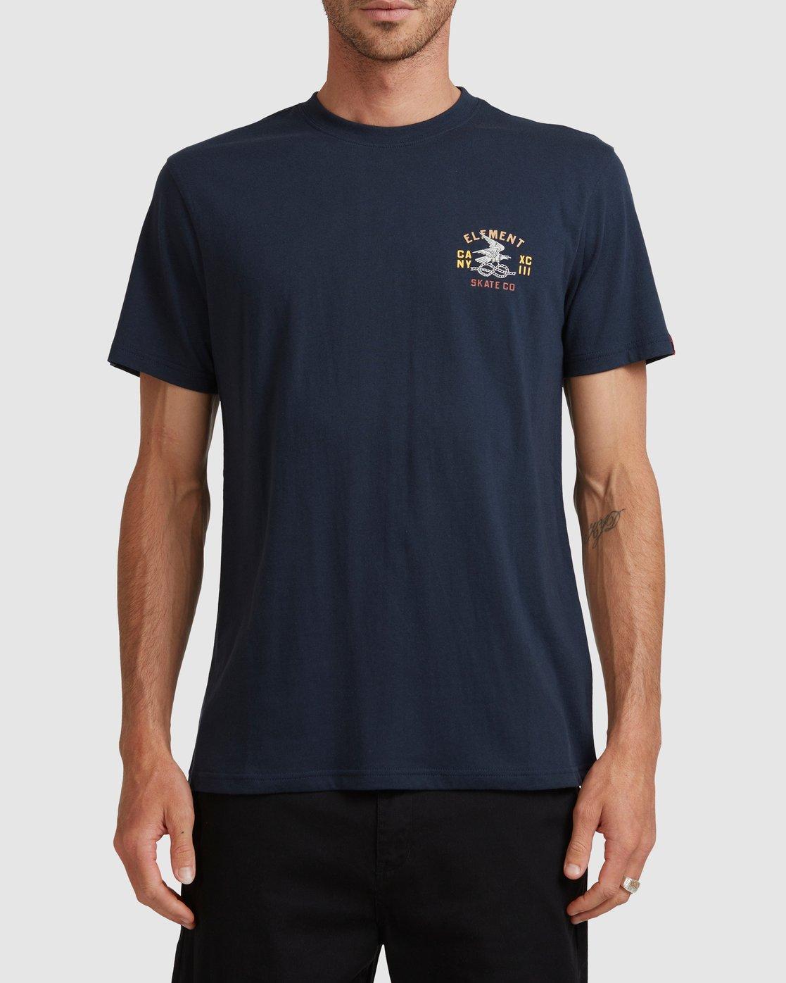 1 CA NY EAGLE SHORT SLEEVE TEE Blue 117005 Element