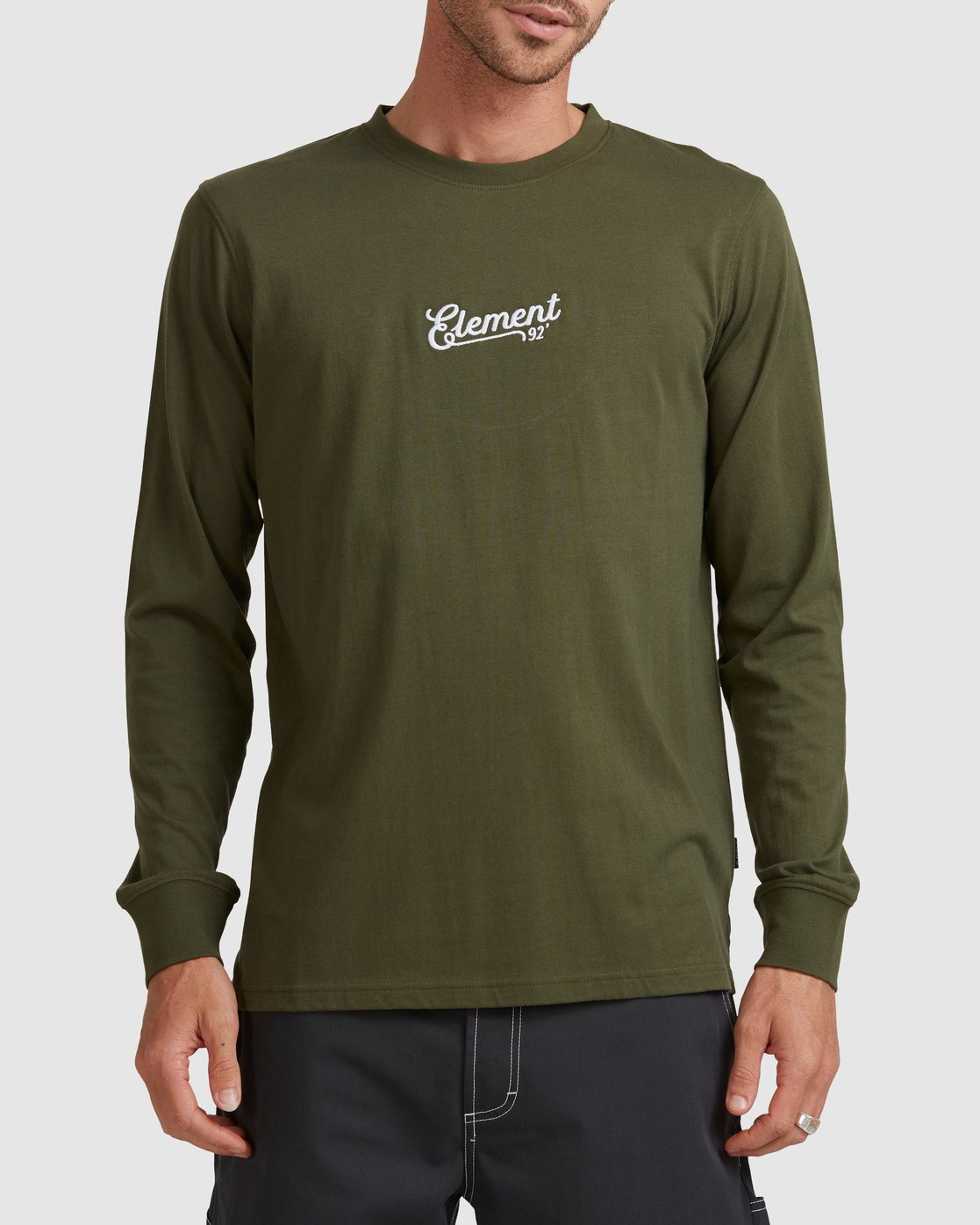 0 SIMPLE TRUTH LONG SLEEVE TEE Green 117053 Element
