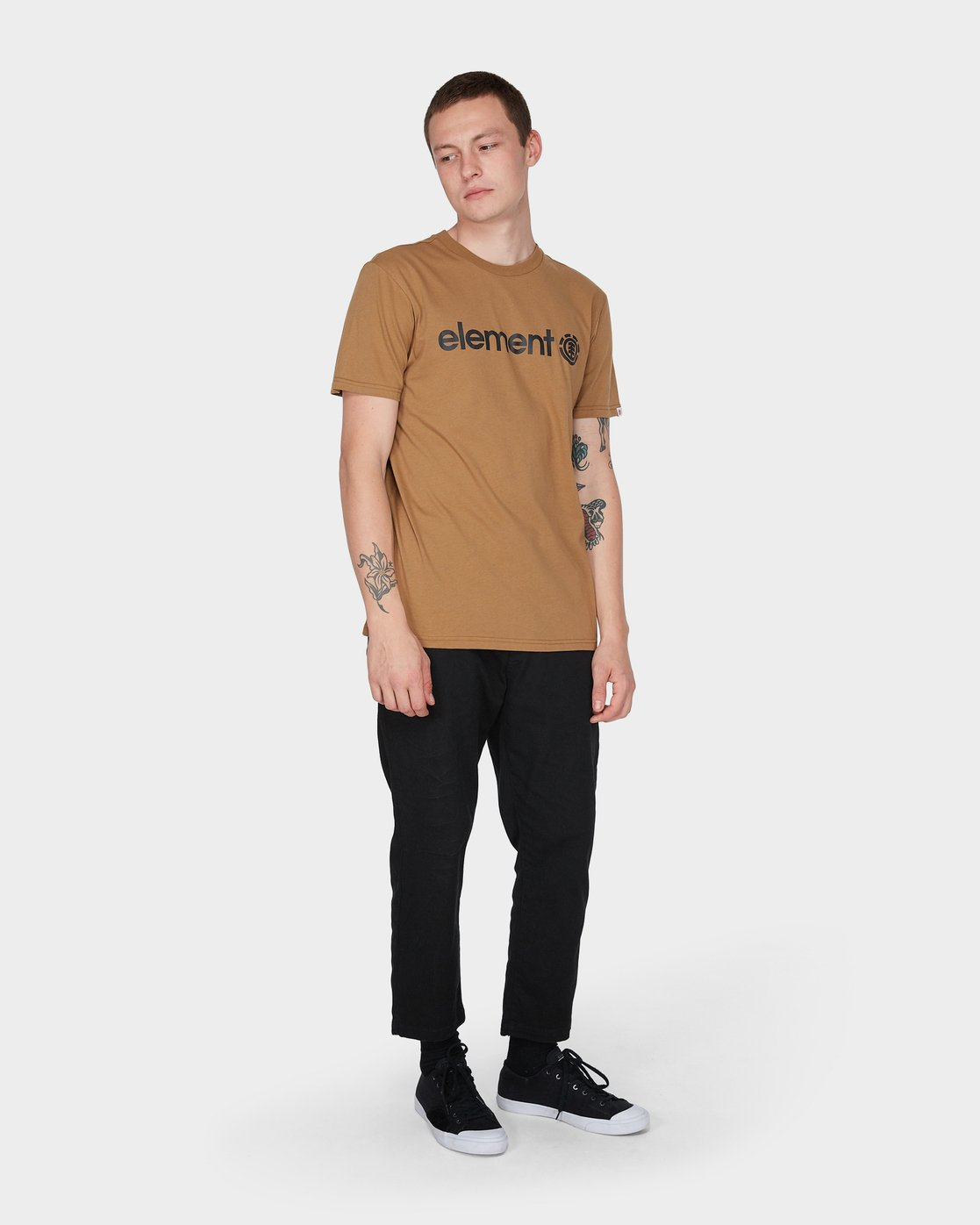 3 HORIZON SHORT SLEEVE TEE Yellow 183001 Element