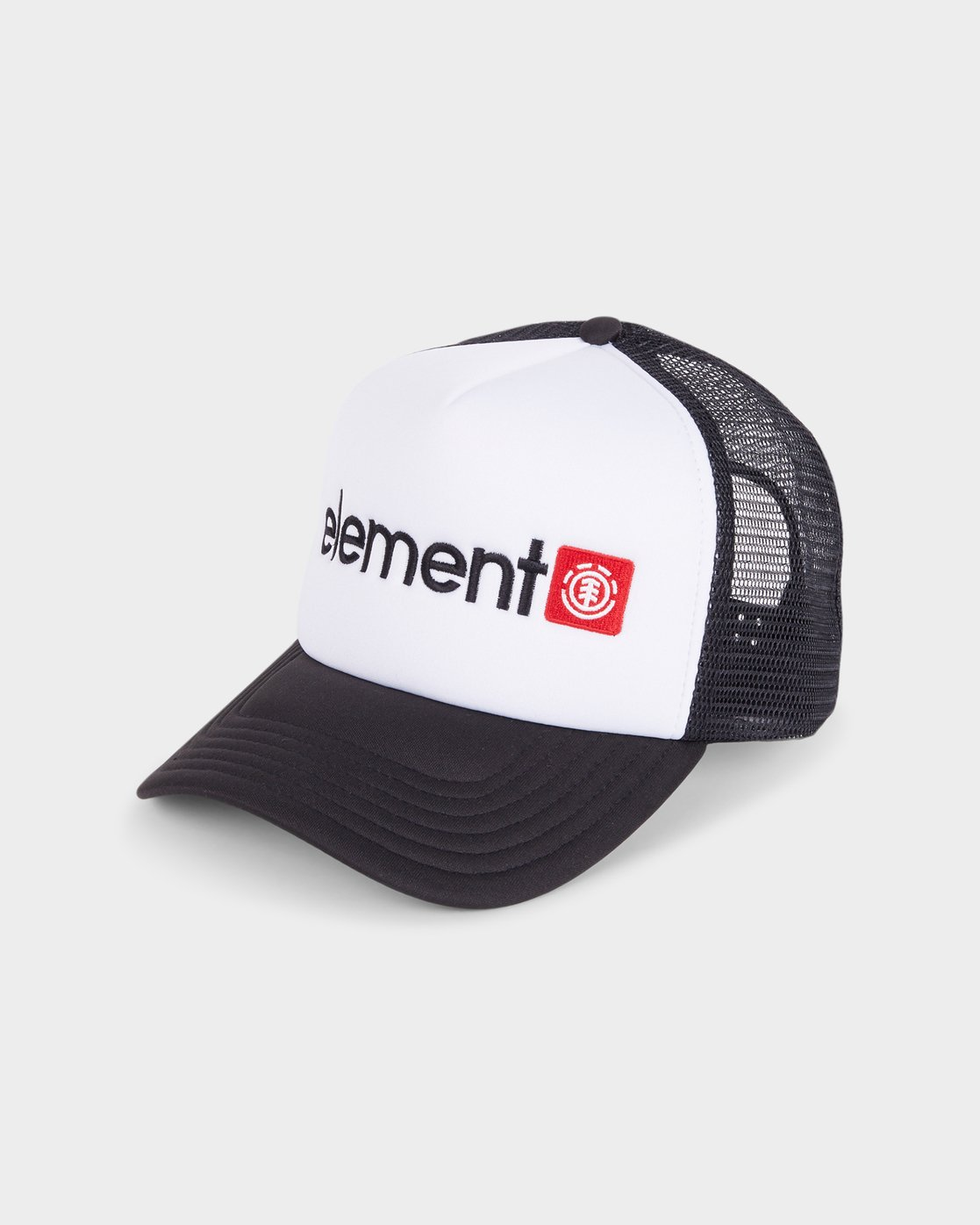 2 Horizontal Trucker Cap White 183608 Element