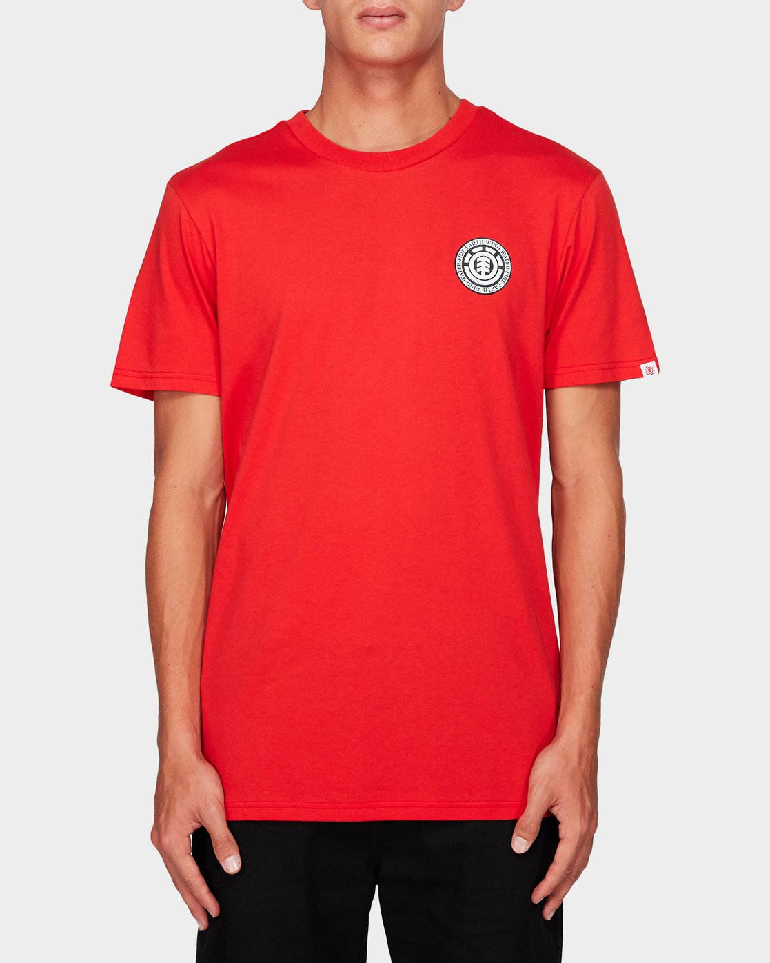 0 Seal Black Short Sleeve Tee Red 184014 Element