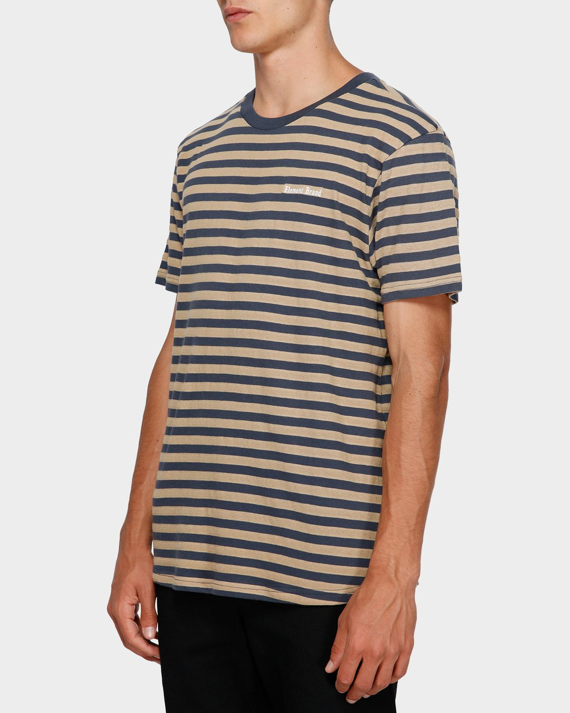 2 Manual Stripe Tee Beige 193002 Element