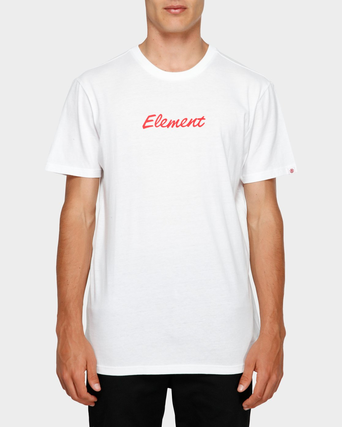 0 Simple Man Short Sleeve Tee White 193012 Element