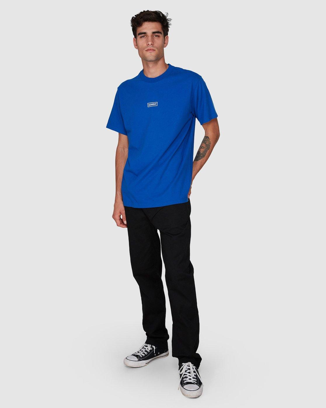 3 Prime Grind Short Sleeve Tee Blue 193023 Element