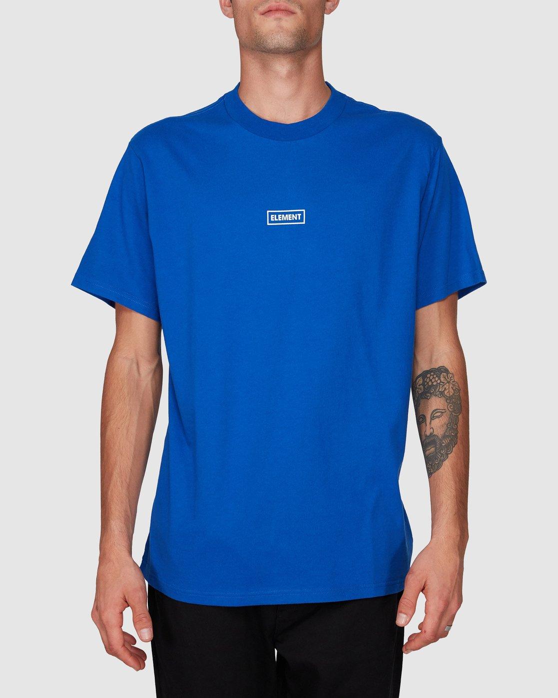0 Prime Grind Short Sleeve Tee Blue 193023 Element