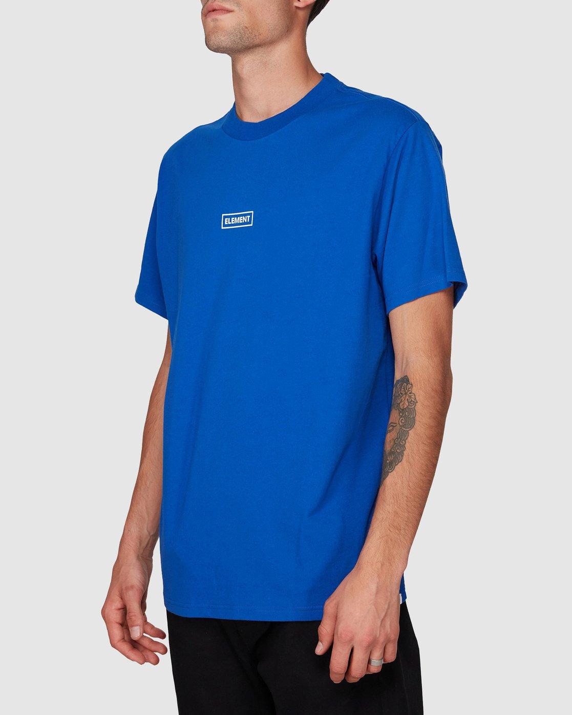 2 Prime Grind Short Sleeve Tee Blue 193023 Element
