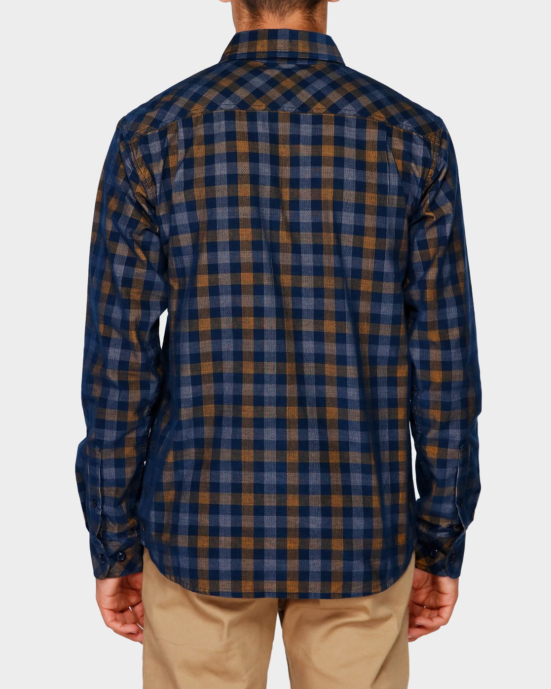 1 Freeway Plaid Long Sleeve Shirt Blue 193216 Element