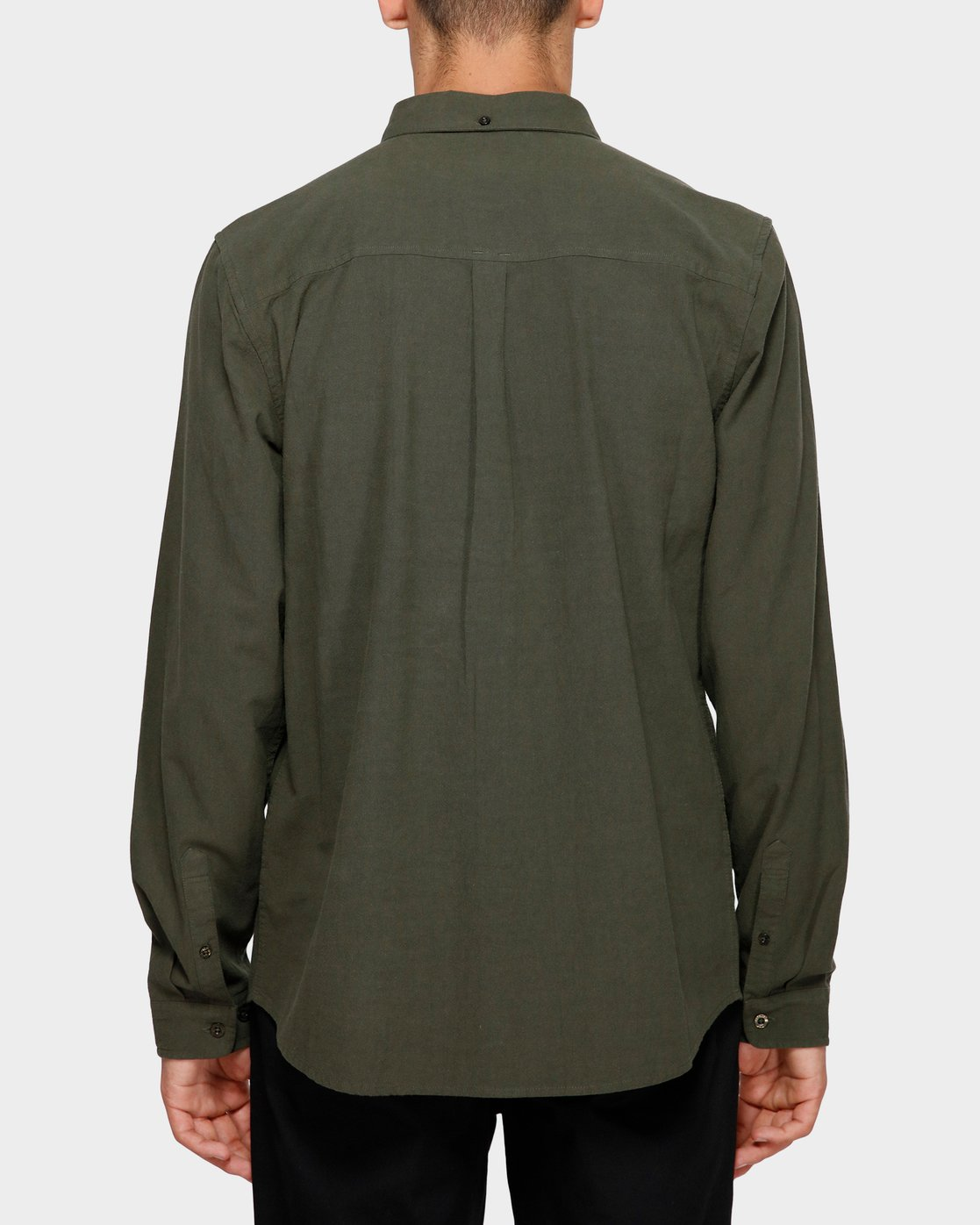 1 Icon Crisp Long Sleeve Shirt Green 193218 Element