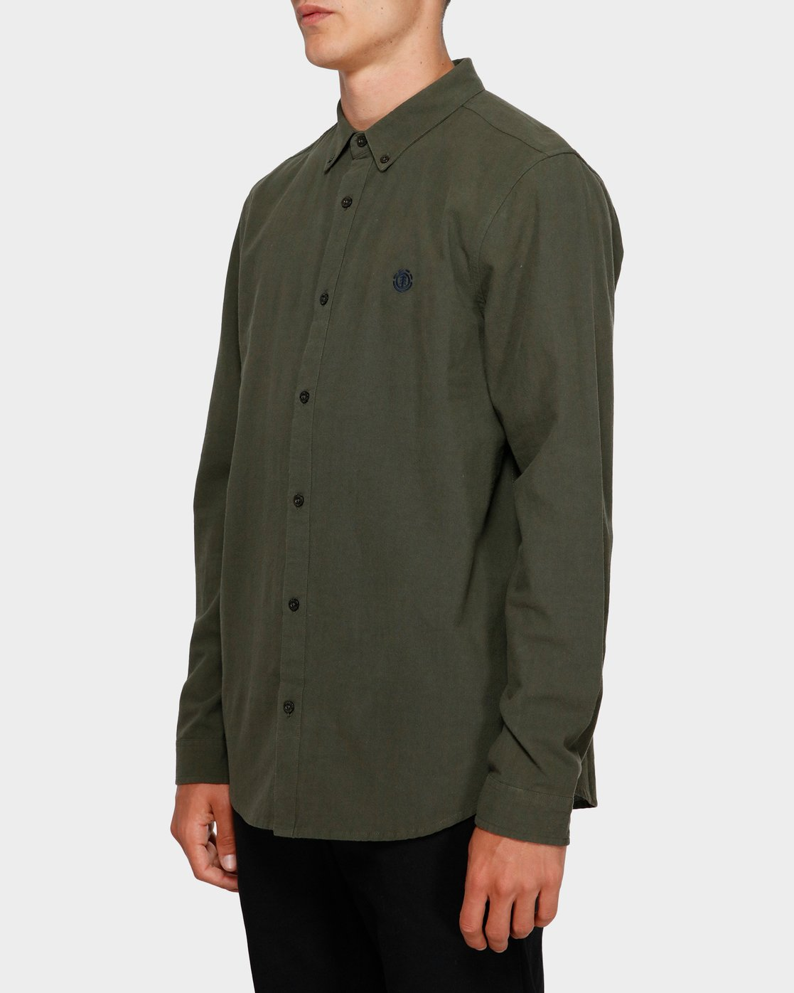 2 Icon Crisp Long Sleeve Shirt Green 193218 Element