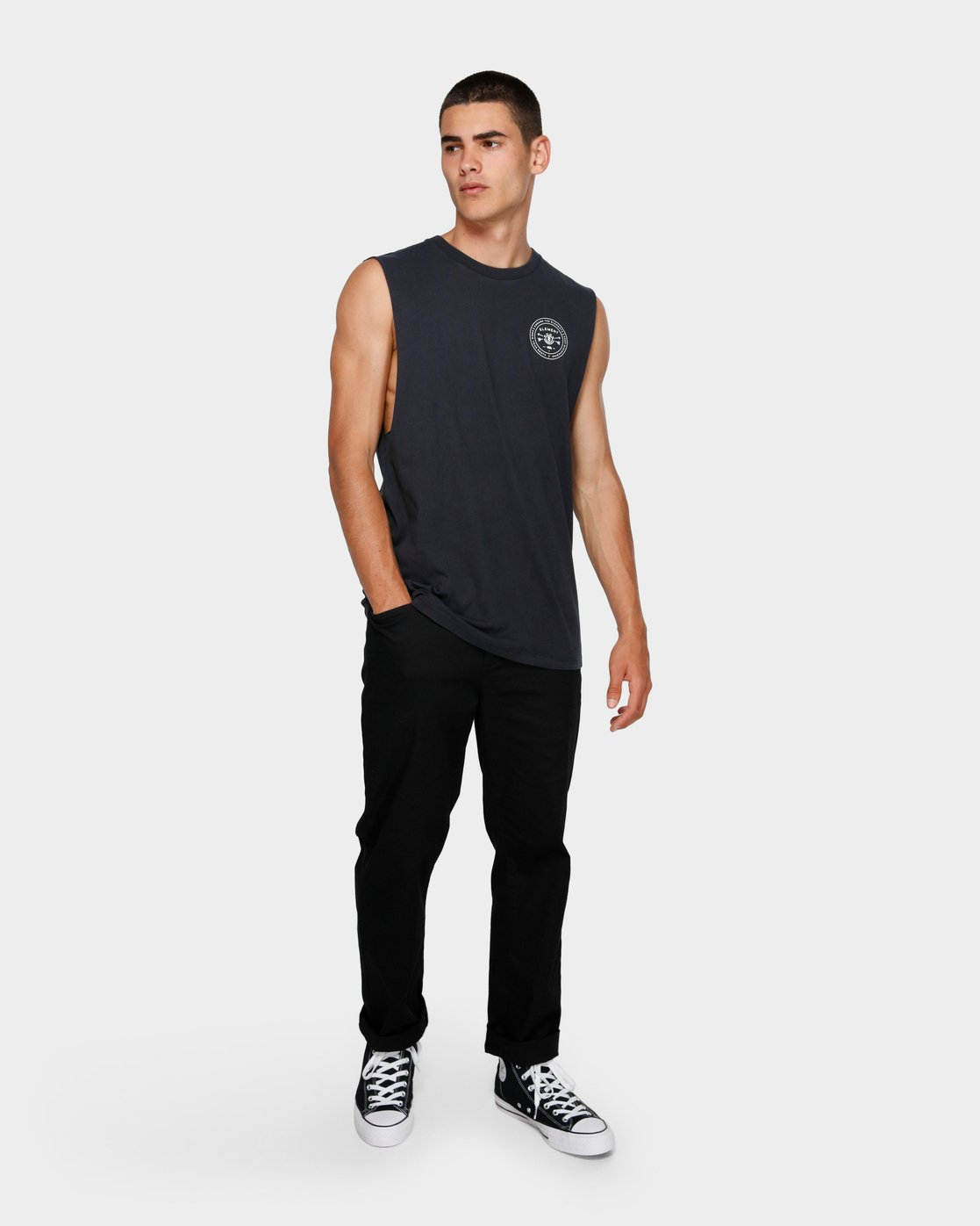3 Know Your Roots Muscle Tee Black 193272 Element