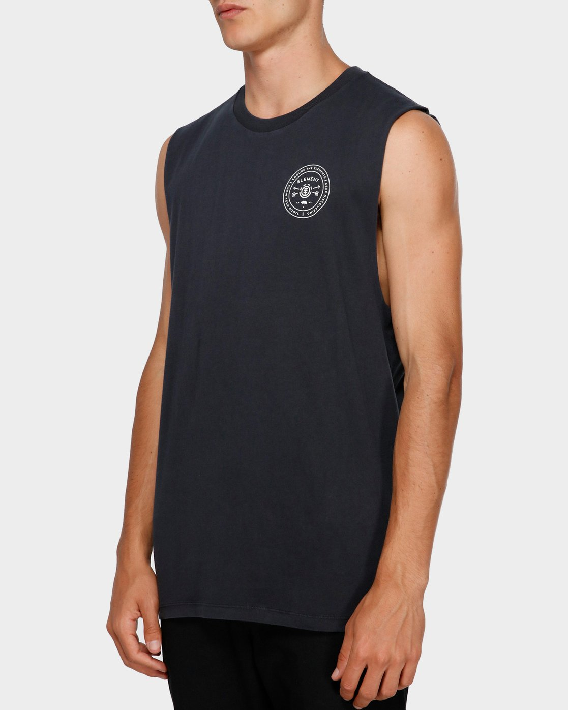 2 Know Your Roots Muscle Tee Black 193272 Element