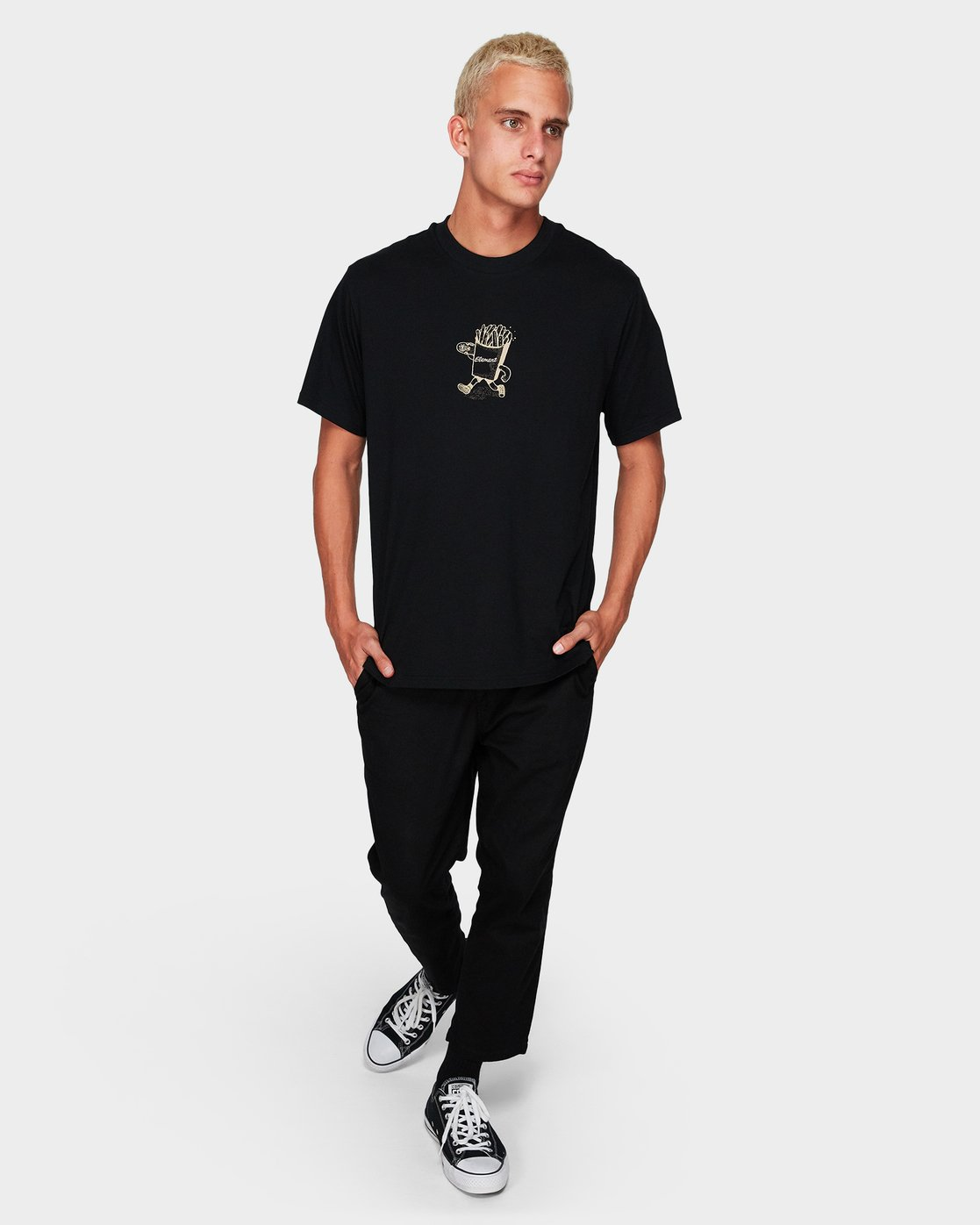 3 Snack Time Ss Tee Black 194006 Element