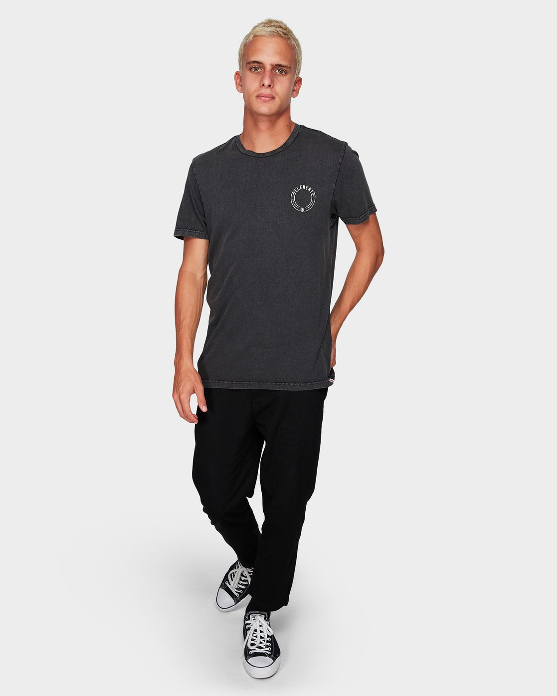 3 STRIKE SS TEE Black 194008 Element