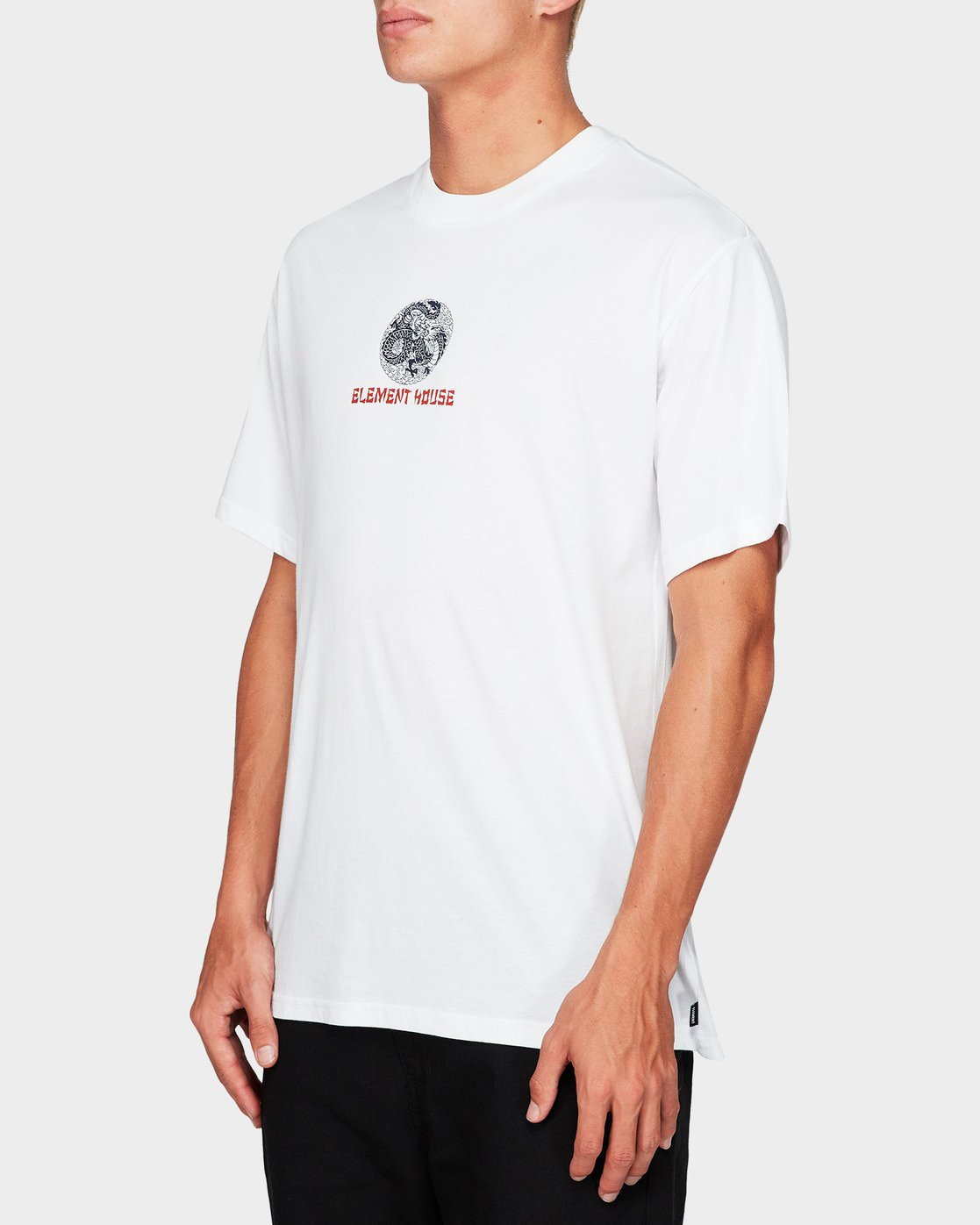 2 Element House Ss Tee White 194019 Element