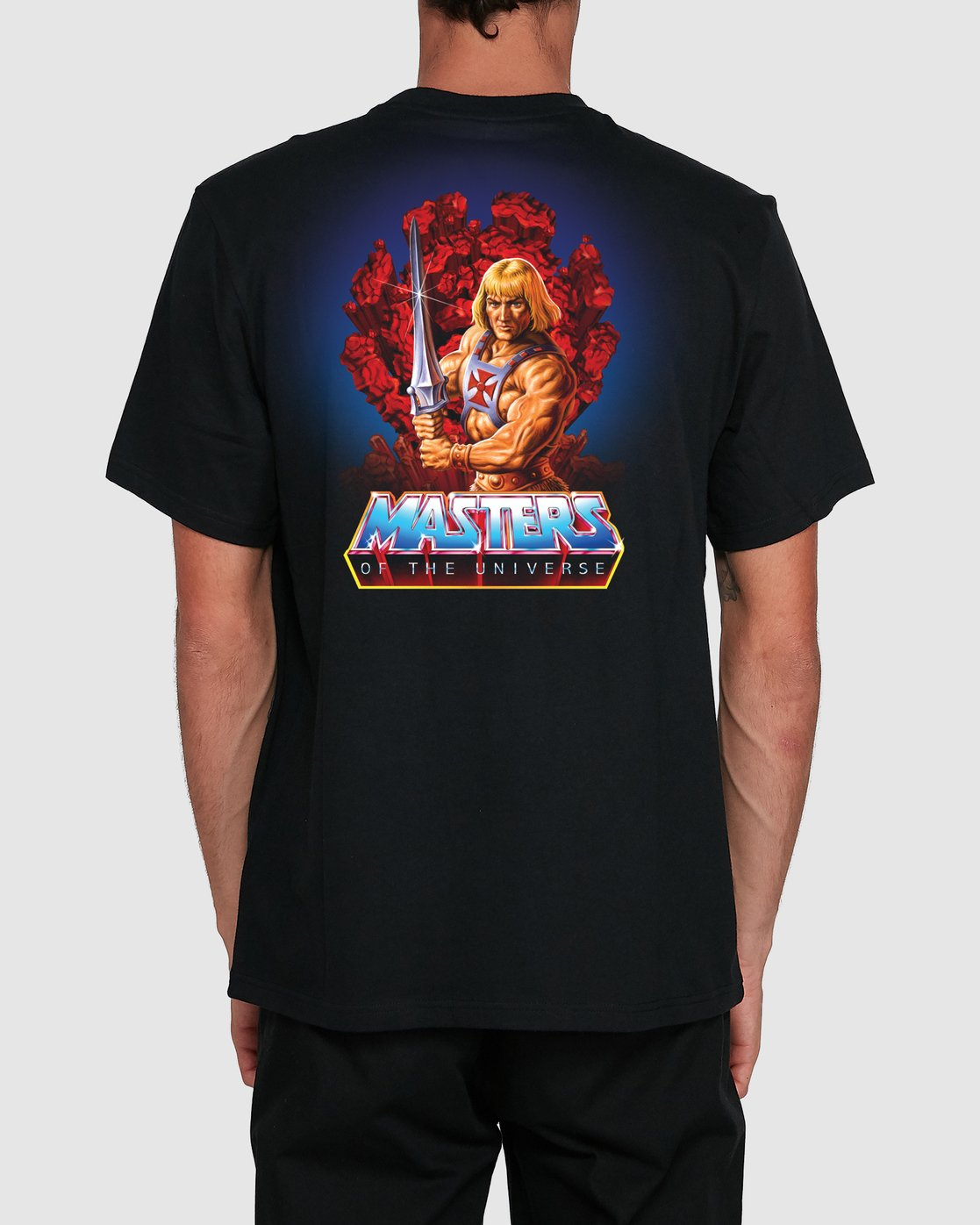 0 MOTU HE-MAN SS TEE Black 194031 Element