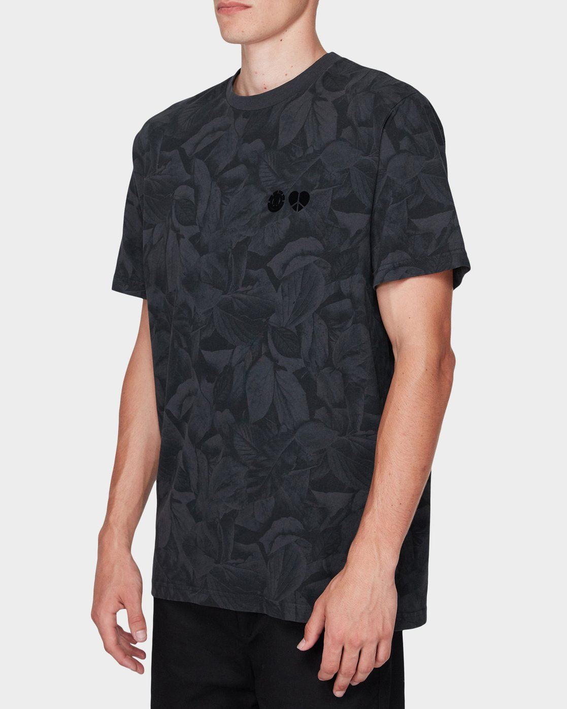 2 GRIFFIN LEAF CAMO SS TEE Black 196031 Element
