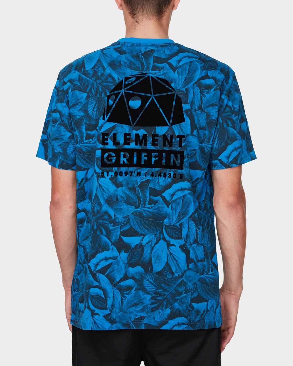 1 GRIFFIN LEAF CAMO SS TEE Blue 196031 Element