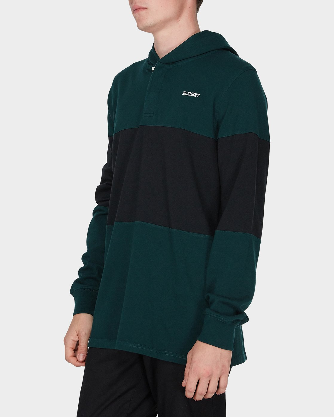 2 DEXTER LS RUGBY HOOD TEE Green 196052 Element